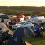 The campsite in action
